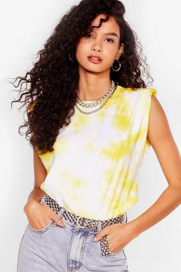 Yellow Into the Groove Tie Dye Tank Top