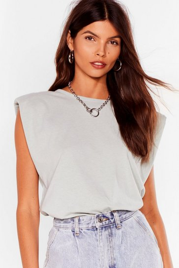 Sage Know the Basics Shoulder Pad Tank Top