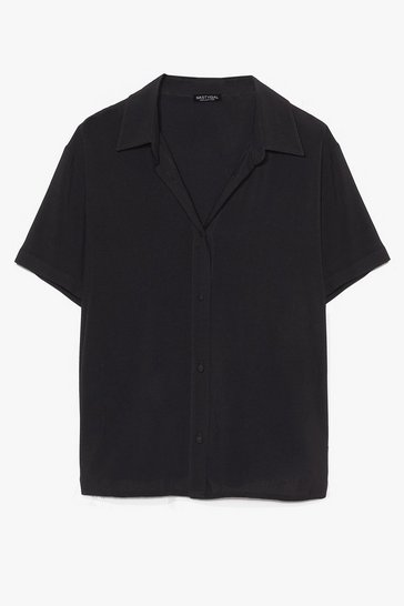 Black Think Outside the Box-y Oversized Shirt