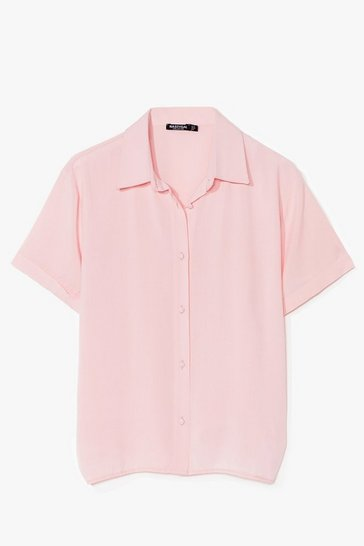 Blush Think Outside the Box-y Oversized Shirt