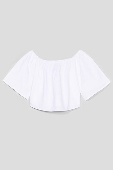 White Knock Me Off My Feet Crop Top