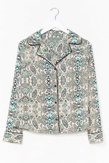 Stone Python the Beat Relaxed Snake Shirt