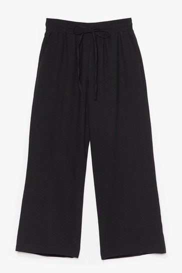 Black Time to Waist High-Waisted Cropped Pants