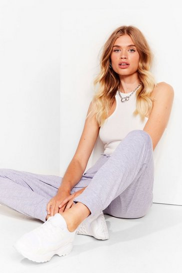 Grey marl Cuff and At 'Em High-Waisted Joggers