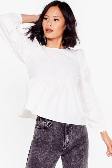 Off white Smock It Off Relaxed Crew Neck Top