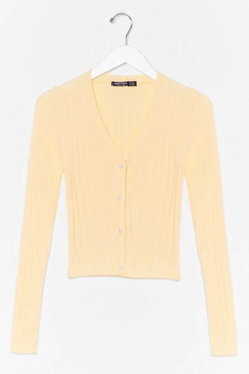 Lemon Baby Knit's You Pearl Button Cardigan