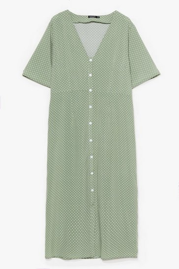 Sage Dotta Believe Us Plus Polka Dot Midi Dress