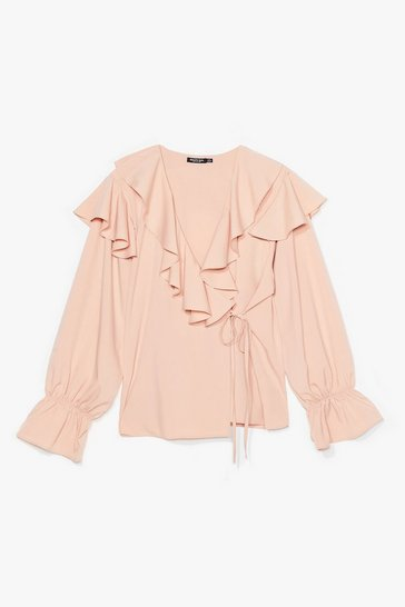 Nude What Frill Happen Ruffle Blouse