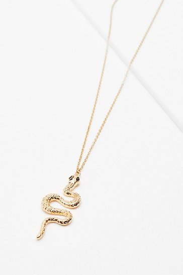 Gold Snake 'Em Out Pendant Necklace