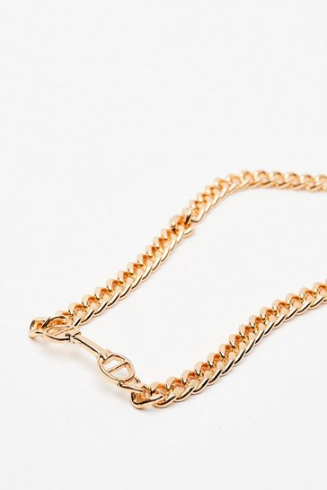 Gold Meet You at the Bar Chain Necklace