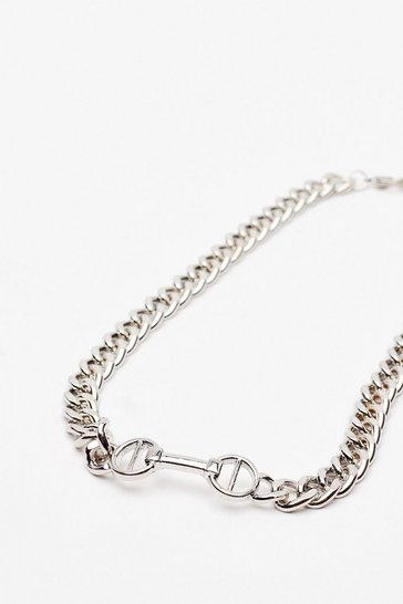 Silver Meet You at the Bar Chain Necklace