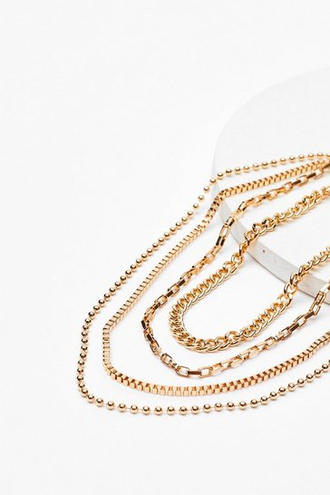 Gold More is More Layered Chain Necklace