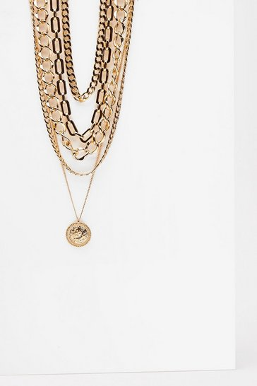 Gold Makes No Cents Layered Chain Necklace