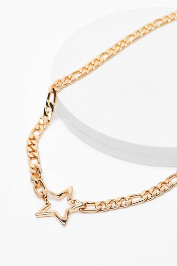 Gold Never Star Away Chain Necklace