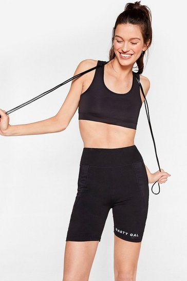 Black Run With It Workout Crop Top