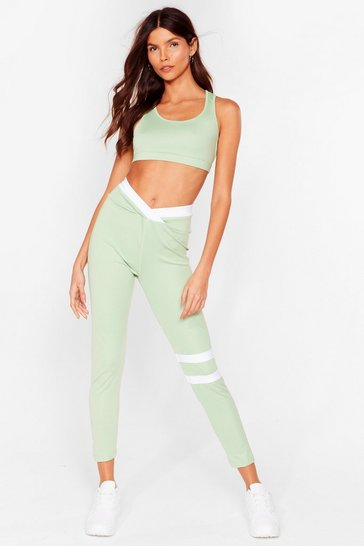 Sage Hustle Hard High-Waisted Workout Leggings