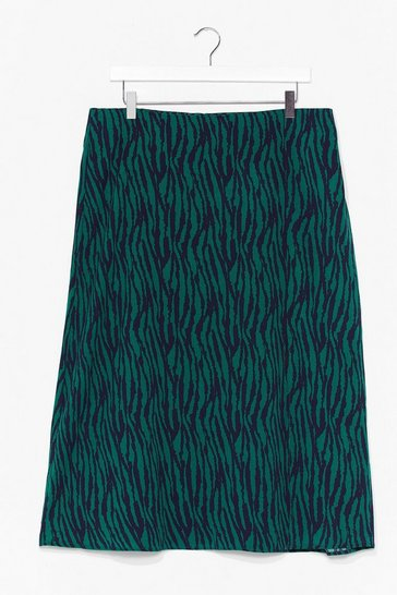 Green That Print in Your Eye Plus Zebra Skirt