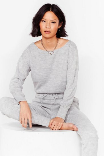 Grey Serious Chills Sweater and Joggers Lounge Set