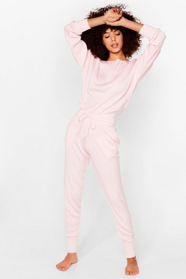 Pink Weekend Loading Joggers Lounge Set
