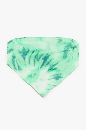 Green Right on Tie Dye Handkerchief