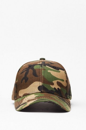 Green We're Incognito Camo Baseball Cap