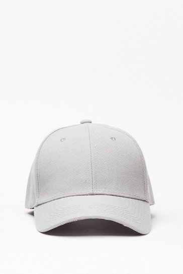 Grey Plain Baseball Cap