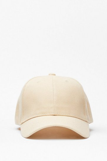 Beige Heads Up Baseball Cap