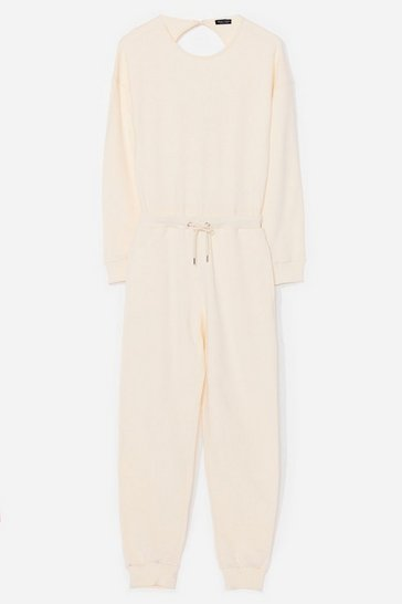Ecru Keep It Casual Lounge Jumpsuit
