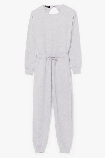 Grey marl Keep It Casual Lounge Jumpsuit