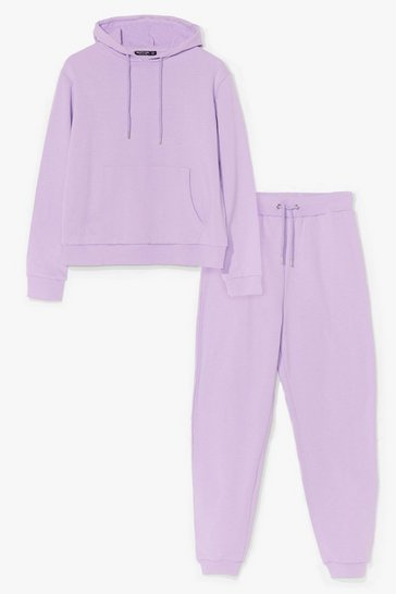 Lilac hoodie and jogger set