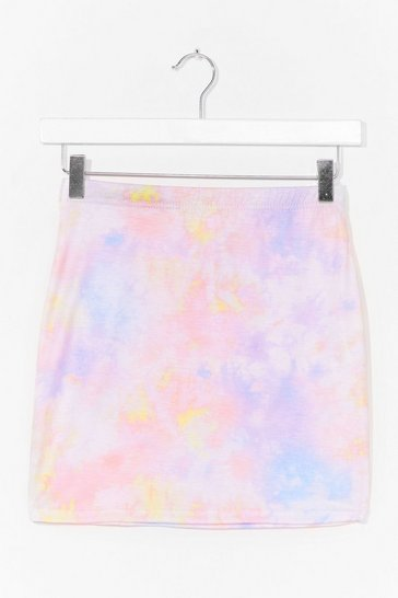 Pink Why the Pastel Not Tie Dye Mini Skirt