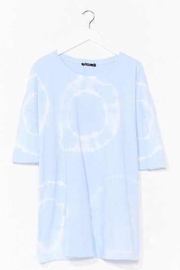 Baby blue Twist and Shout Oversized Tie Dye Tee