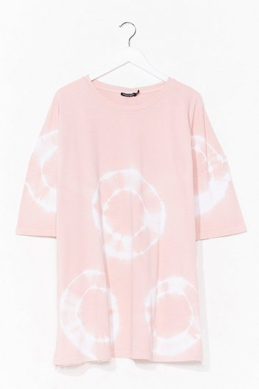 Terracotta Twist and Shout Oversized Tie Dye Tee