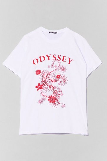 White Odyssey No More Relaxed Graphic Tee