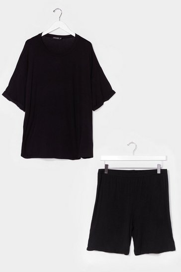 Black Sofa Surfin' Oversized Tee and Shorts Set