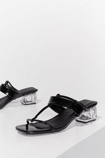 Black To Have Me Crystalised Strappy Mules