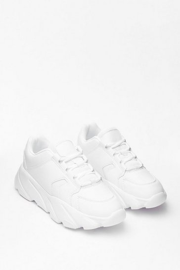 White I Got Sole Chunky Sneakers