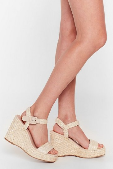 Natural Makin' Strides Woven Wedge Sandals