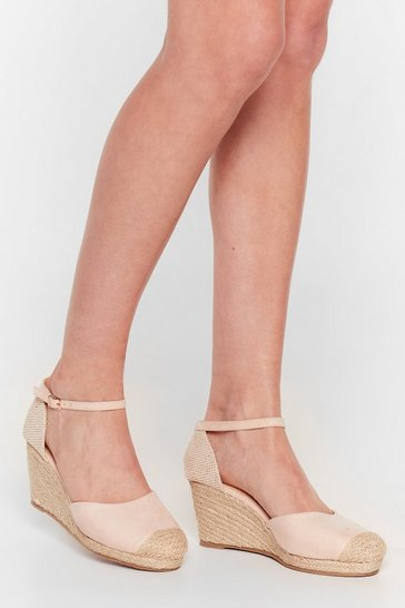 Nude Lovely Day Espadrille Woven Wedges