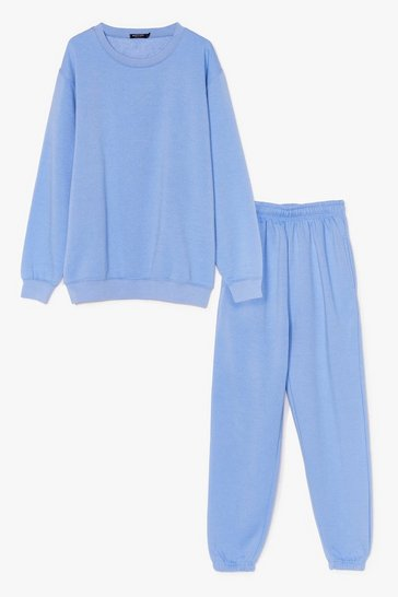 Light blue Chilled Out Sweatshirt and Joggers Lounge Set