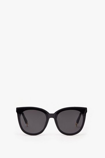 Black Tinted Round Sunglasses