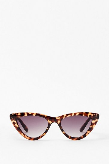 Black Tort Cat Eye Sunglasses