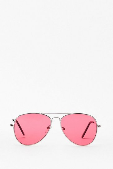 Seeing Red Tinted Aviator Sunglasses