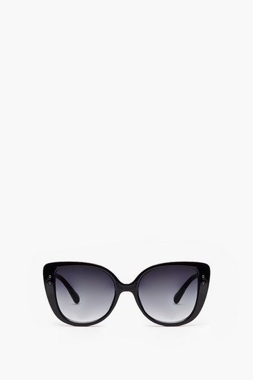 Black Lost in the Meow-ment Cat-Eye Sunglasses