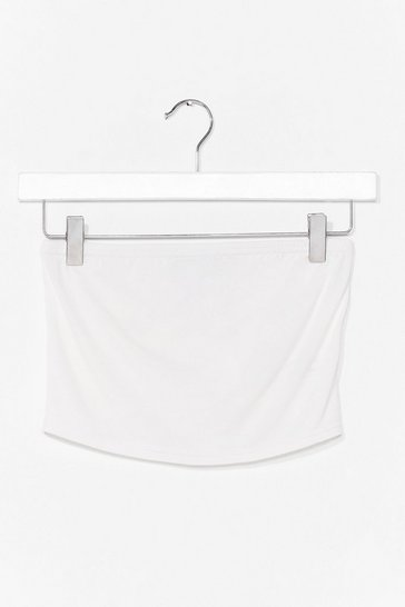 White Bandeau Your Thing Crop Top