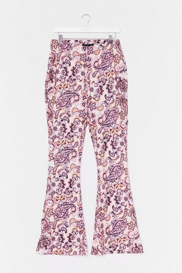 Lilac Plus Paisley Flare