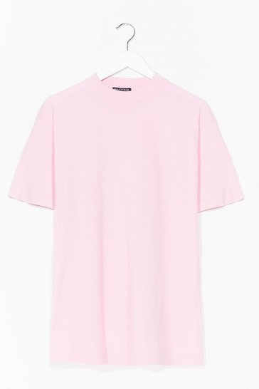 Baby pink Oversized Basic T-Shirt