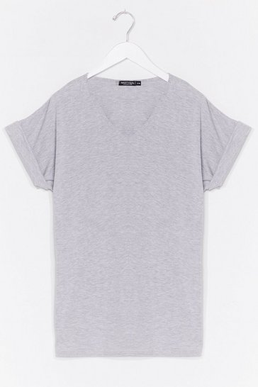 Grey Leave It to V-Neck Relaxed Tee