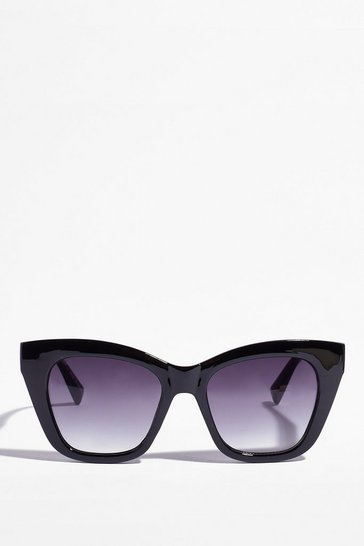 Black Always Throwin' Shade Square Sunglasses