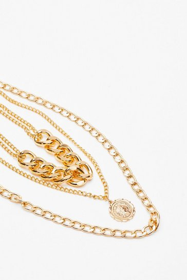 Gold Let's Hang Out Layered Chain Necklace